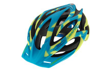 Cratoni Rocket Casque bleu-jaune caoutchouc fini